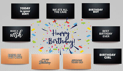 Photo Booth Signs (PVC Photobooth Signs -BIRTHDAY 12 signs DOUBLE SIDED, Birthday Props!)