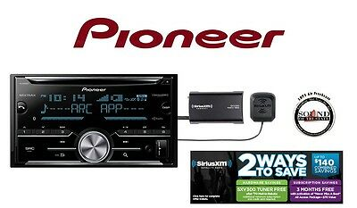 Pioneer FH-X830BHS CD Receiver w/ Bluetooth & SiriusXM Satellite Radio SXV300v1
