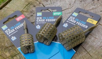 Preston ICS In Line Cage Feeder *Complete Range* NEW Coarse Fishing Feeder