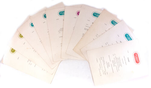 Lot of 10 P&O - Orient Lines Tourist Cruise Ship Lunch, Dinner 1963 Menus