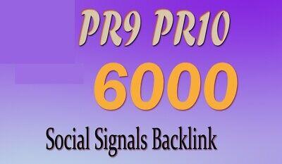 6000 Pr9-10 Social Signals Backlink From Social Media To Improve Website Seo