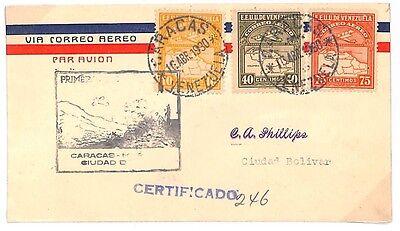 C179 1930 Venezuela *CARACAS* Foreign Airs {samwells-covers}PTS