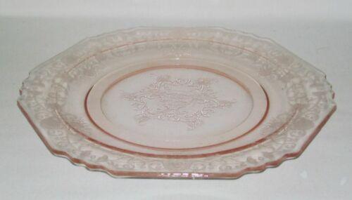 Hazel Atlas Glass FLORENTINE No.1 Poppy Pink Dinner Plate
