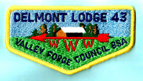 OA Lodge 43-s DELMONT yel bdr Mint 70
