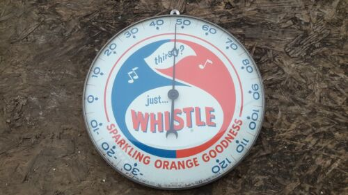 Original RARE Whistle Sparkling Orange Soda Advertising Thermometer 1962.