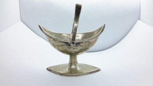 Augsburg Bavaria Germany Oval Pedestal Basket Master Salt Dish 813 Silver 1700