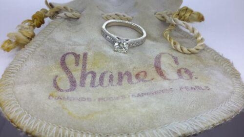Shane Co Diamond Engagement  Ring (1.2 Carat Total) 14k White Gold Ring