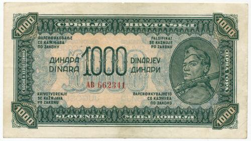 Yugoslavia - 1000 Dinara 1944. P55a, VF+ (Y046)