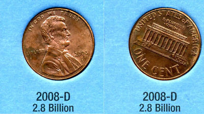 2008 D ABE Lincoln Memorial AMERICAN PENNY 1 CENT US U.S AMERICA ONE COIN #B1 for sale  Westlake