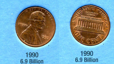 1990 P ABE Lincoln Memorial AMERICAN PENNY 1 CENT US U.S AMERICA ONE COIN #B1 for sale  Westlake