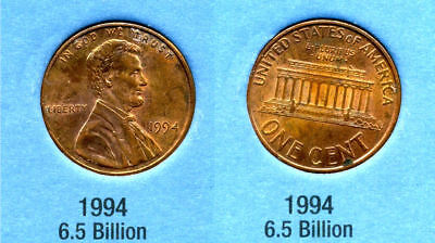 1994 P ABE Lincoln Memorial AMERICAN PENNY 1 CENT US U.S AMERICA ONE COIN #B1 for sale  Westlake