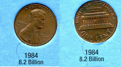 1984 P ABE Lincoln Memorial AMERICAN PENNY 1 CENT US U.S AMERICA ONE COIN #B1 for sale  Westlake