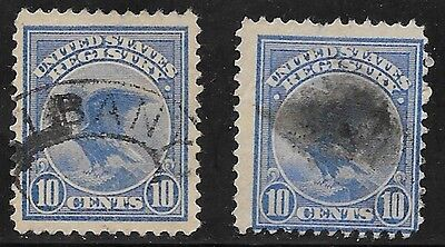 U.S. USED F1       Two Singles  as shown      (R6058)
