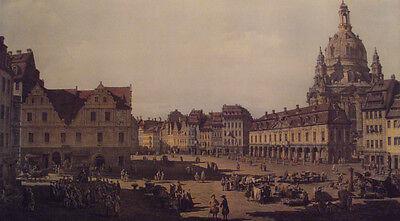 CANALETTO hochwertiger Lichtdruck NEU, Neumarkt zu Dresden  Blatt 116x72 RARITÄT
