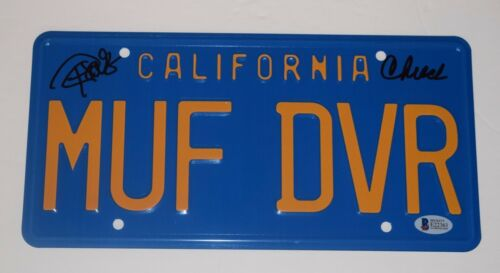 Cheech Marin & Tommy Chong Signed Autograph MUF DVR Prop License Plate BAS COA