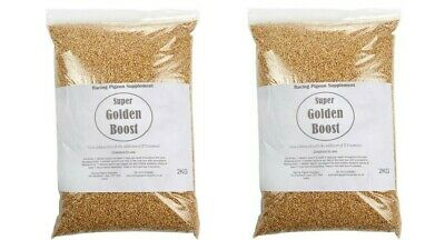 Super Golden Boost - x2 bags 2kg each Racing Pigeon Food Supplement