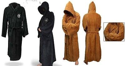 Star Wars Bathrobe (Star Wars Jedi Adult Soft Fleece Bathrobe Sleepwear Cosplay Costume Dress)