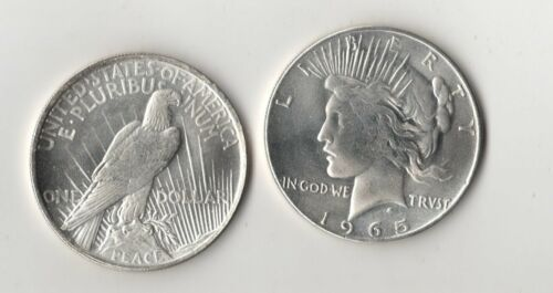 1965 Peace Dollar Fantasy Issue Novelty Trick Coin AU