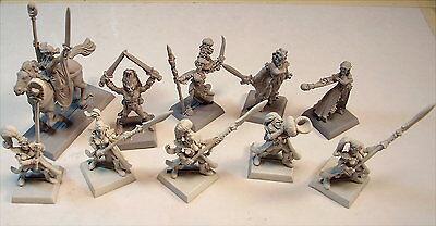Unpainted Metal Miniature Lot Of Warhammer Fantasy  Miniatures