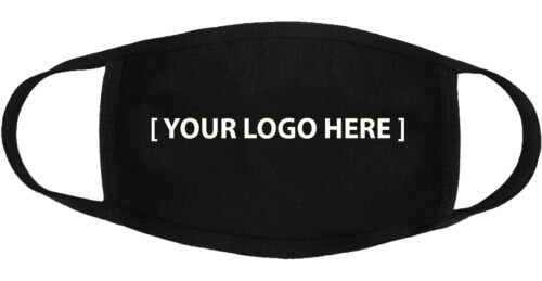 Custom Logo - Face Mask Cover Adult Youth Fashion 3 Layers Made in US