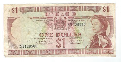 "Fiji - One (1) Dollar, 1974  !! ""Z""  Replacement  !!"