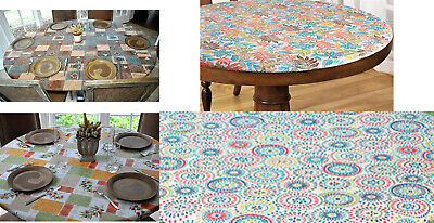 Elasticized Tablecloths Table Cover Fitted Cover Coffee Olive Geometric Bionatic](Vinyl Table Cover)