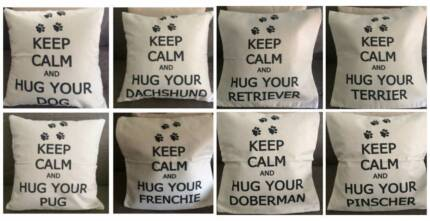 Unique Keep Calm & Hug your Dog/Poodle Cushion Pillow Cover Cases