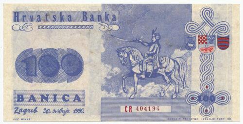 CROATIA, HRVATSKA - 100 Banica proposal propaganda banknote 1991. UNC. (C025)