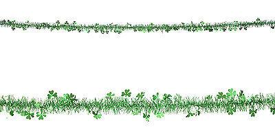 St. Patricks Day Lametta Girlande 2m NEU - Partyartikel Dekoration Karneval Fasc ()