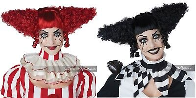 Halloween Costumes Red Wigs (California Costumes Creepy Clown Red Black Halloween Costume Wig 70932)
