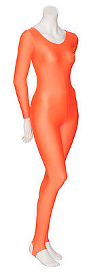 Orange Halloween Pumpkin Witch Fancy Dress Catsuit Costume Outfit KDC012 By Katz
