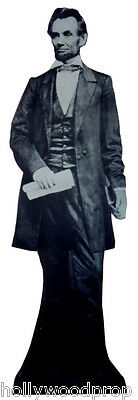 "PRESIDENT ABRAHAM ABE LINCOLN LIFESIZE 6'4"" STANDUP STANDEE CUTOUT POSTER FIGURE"