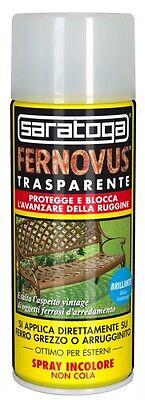 SARATOGA SPRAY FERNOVUS VERNICE TRASPARENTE BLOCCA RUGGINE - OPACO/LUCIDO