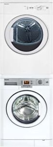 Blomberg Stackable White 1.95 cu.ft. Compact Washer and 3.7 cu.f