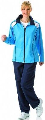 Damen Sportanzug Freizeitanzug Walking Haus Reha blau Kurzgrößen Reduziert