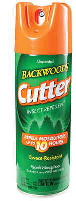 Cutter Unscented 10 Hour Insect Repellent Water Resistant Bug Spray Can 6 oz 10 Hour Insect Repellent