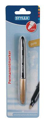 Permanentmarker / Farbe: gold