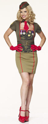 40'S STYLE ARMY BABE FANCY DRESS OUTFIT COSTUME - 40s Outfits