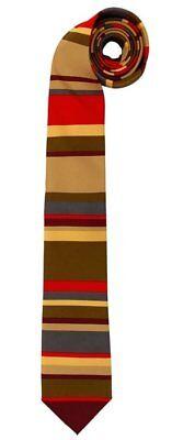 Doctor Who 4th Doctor Colors Tom Baker Poylester Necktie, COSPLAY, NEW UNWORN