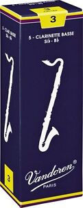 Vandoren Traditional Bass Clarinet Reeds Strength 3 Box of 5