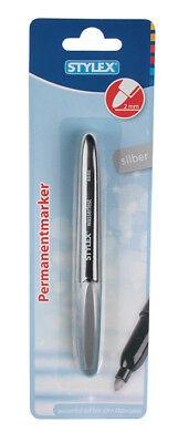 Permanentmarker / Farbe: silber