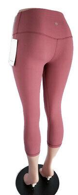 "Size 6, 8 Lululemon Align Crop 21"" - Misty Merlot Pink - NWT"