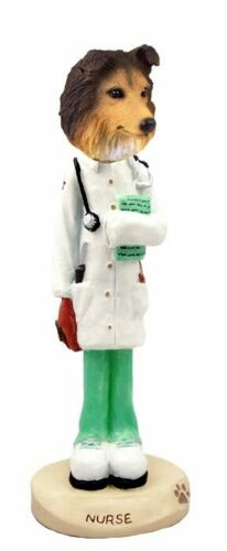 Sable Sheltie Nurse Stone Resin Figurine Statue