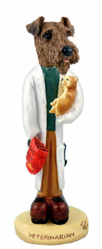 Airedale Terrier Veterinarian Stone Resin Figurine Statue