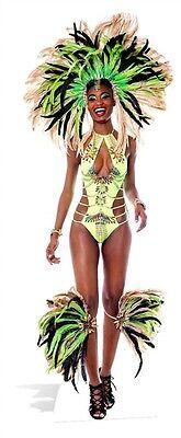 Carnival Mardi-Gras Brazilian Babe Cardboard Cutout Standee Stand Up Standee