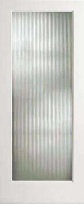 Reed Textured Decorative Glass French Doors -8 Wood Types- Door Slabs Or Prehung