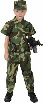 Costumes Army (Kids Woodland Camouflage Army Soldier Uniform)