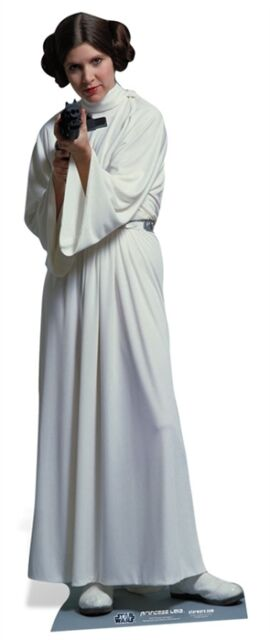 Princess Leia Organa Star Wars Cardboard Cutout Stand up. Carrie Fisher Standee