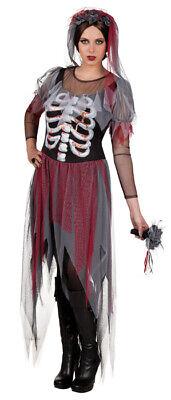 Zombie Novia Halloween Disfraz 3 Piezas Mujer Talla 36 Gótico Muerte Noble
