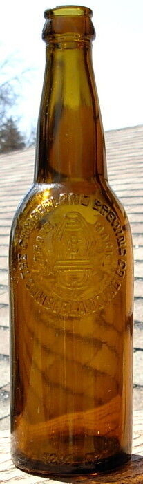 CUMBERLAND BREWING CO MD MARYLAND BEER BOTTLE 12 1/2 OZ